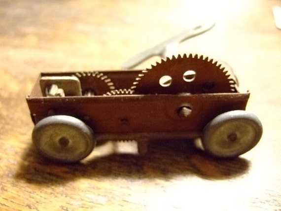 Vintage on Etsy, Wind-up Car, Gift for Him, Gift for Her, Decorative, Unique, Rustic, Stocking Stuffer, Christmas