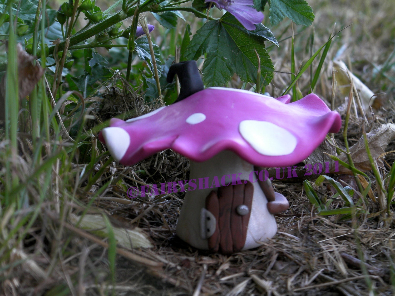 Pink Fairy Mushroom House small Pink Wild Mushroom Fairy  Pink Fairy Mush...