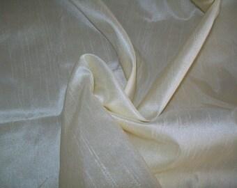 Half  yard creme and gold 100 per cent pure dupioni silk