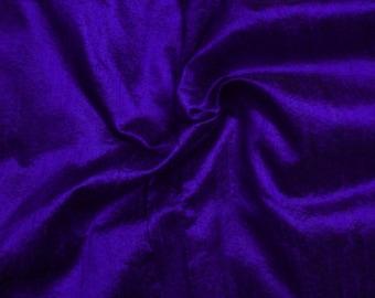 One yard  of indigo dupioni silk blend