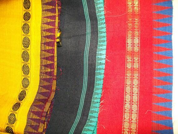 Silk sari scrap bundle