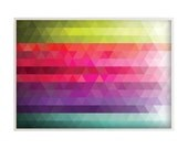"""Fine Art Print Illustration - Poetic Geometry:  Colorful Gradients 02 - 30x40"""" (70x100cm) Size (Also in Custom Sizes)"""