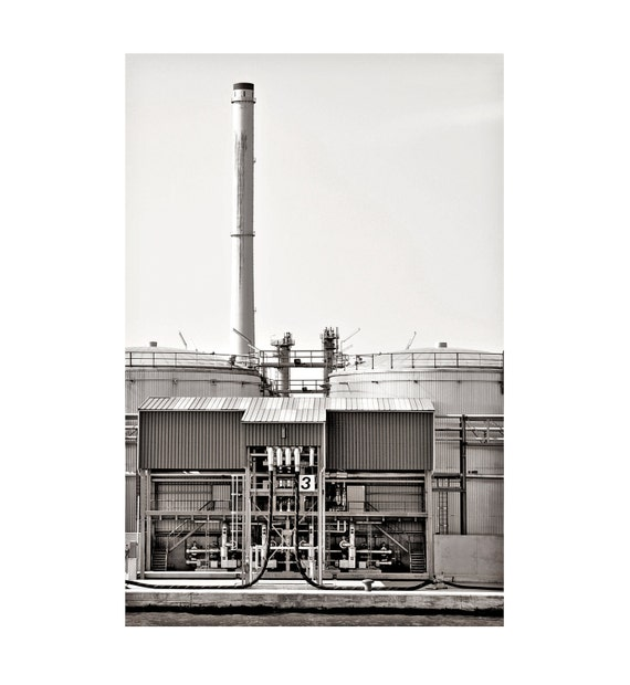 """Black & White Graphic Photograpy Fine Art - Industrial Factory- Modern Abstract - 8""""x12"""" Size (Can also be """"5x7"""" Size, custom sized)"""