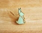 Rabbit origami Pin