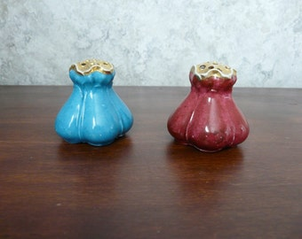 R S Germany Pair of Hatpin Holders/Frogs