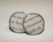 Harry Potter: Ron/Hermione, Silver Toned Earrings