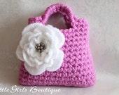 Little Girl Little Flower Purse in Pink - Listing21