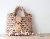 Little Girl's Button Purse - PDF crochet pattern