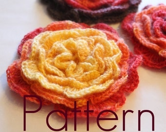 Layered Flower - PDF crochet pattern