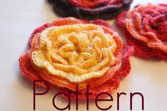 Layered Flower - PDF crochet pattern