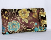 Large Brocade Soft Sunglasses Case-- Ready to Ship--