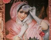 Vintage Woman With Mask Photo Album, Gift Item, Photo Holder