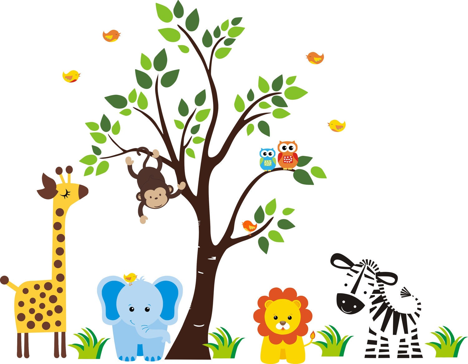 Wall decals nursery baby wall decals nursery by for Stickers infantiles