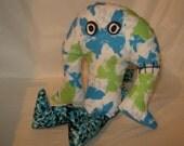 Plush monster ooak tough guy unique fabric art doll