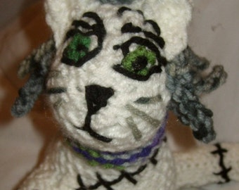 Soul Eater Dr. Franken Stein inspired amigurumi plush neko kitten stuffed animal anime otaku plush cat