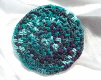 Coffee mat rug Minature handwoven rug style coaster mug mat Nightwatch colors