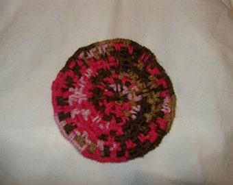 Coffee mat rug Minature handwoven rug style coaster mug mat Sweet mocha colors