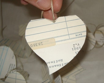 SALE love heart hang tags for scrapbooking with strings handcut folding fancy gift tag