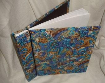 Handmade art journal blank book Medieval tapestry animals fantasy Renaissance Fair