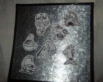 surreal artwork magnets refrigerator decoration original art monsters paranormal creatures group C