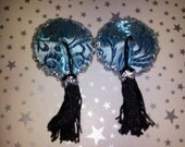 light blue burlesque pasties