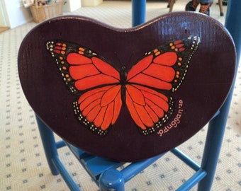 Handpainted Small Wooden Stools Choose From Two Styles :D...