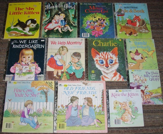 LITTLE GOLDEN BOOKS - Vintage Children's Book Collection of 13 Golden Books