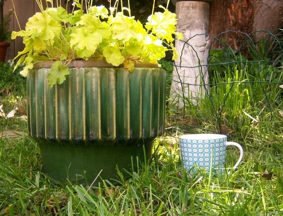 Vintage jardiniere garden pot // Bauer Biltmore, USA // LARGE