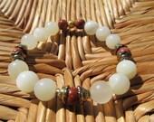 Balance & Harmony- inspirational crystal gemstone bracelet boho yoga zen