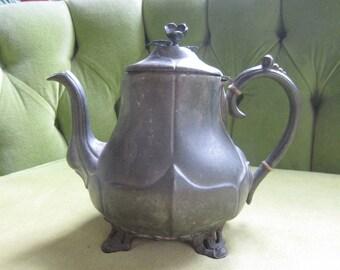 Vintage Smith & Feltman Pewter Teapot
