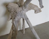 "Rio Grande Driftwood Sculptural Side Table ""Mare"""