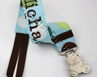 Pacifier Clip, Personalized Paifier clip, baby shower gift, baby pacifier clip