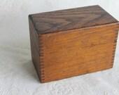 rustic wooden recipe box