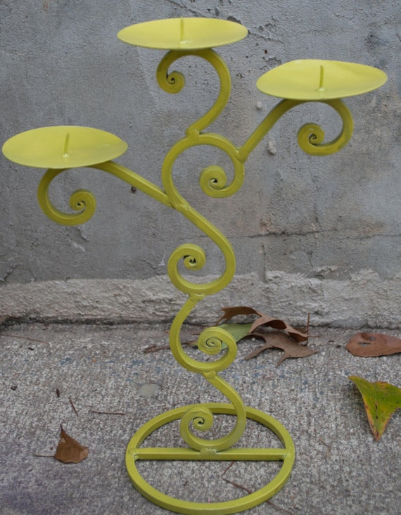 PRIVATE Listing for Sarah Lloyd ONLY Scrolled Ivy Green Candleholder