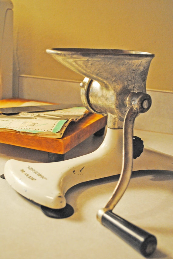 items similar to vintage table top meat grinder on etsy