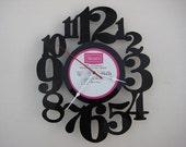 vinyl record clock (artist is Pete Fountain)