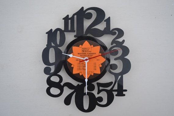 Vinyl Record Wall Clock (artist is Michael Cassidy)