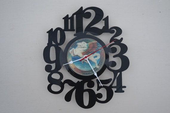 vinyl record clock (artist is The Steve Miller Band)