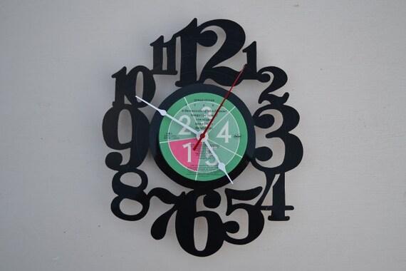 vinyl record clock (artist is Duran Duran)