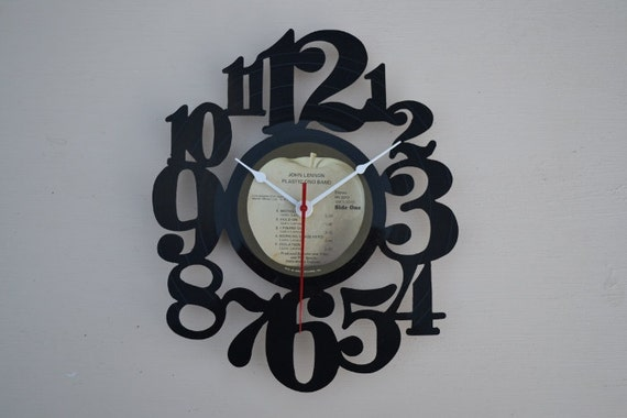 Vinyl Record Clock Album Wall Clock (artist is John Lennon)
