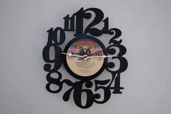 Vinyl Record Album Wall Clock (artist is KISS)