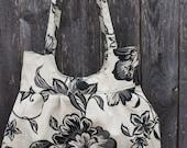 Cream and Black floral purse