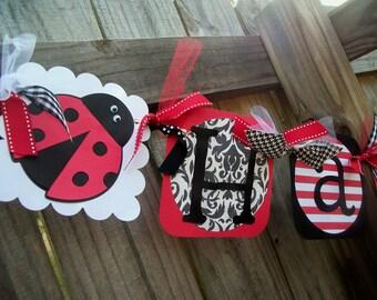Ladybug (Red & Black) Happy (Age) Birthday Banner