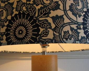 "MADE TO ORDER Medium Lampshade - Blue Wheel Flowers- 25cm diameter x20cm height. (10"" x 8"")"