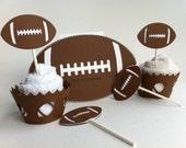 Football Birthday Invitations, Football Cupcake Wrappers, Football Cupcake Toppers