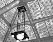 Chicago Art, Architecture Photography, Black and White Wall Art, Ceiling Prints,The Rookery Art,Light Court