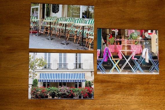 Paris Cafe Postcard Set