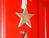 Star Spangled door ornament - upcycled cork