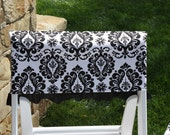 Black and White Damask Chair Cover, Party, Birthday, Wedding, Bridal Shower, Special Event