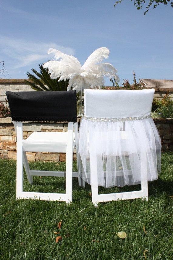 Viva Glam Bride and Groom Wedding Day Chair Covers